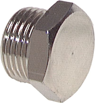 Closing plugs with outer hexagon and cylindrical thread, up to 40 bar