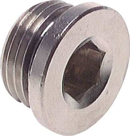 Closing plugs with inner hexagon and cylindrical thread, up to 40 bar