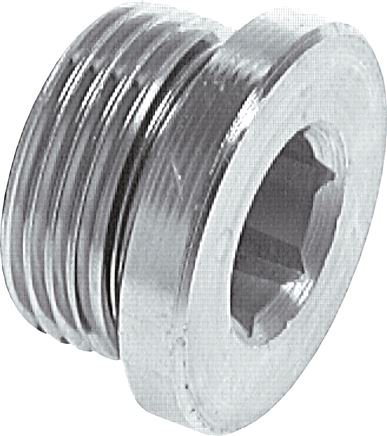 Locking screws with elastomer seal (G thread), up to 400 bar
