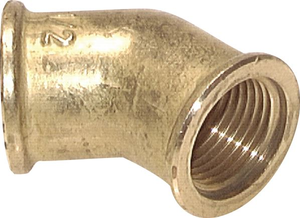 Angle 45° with female thread, up to 25 bar