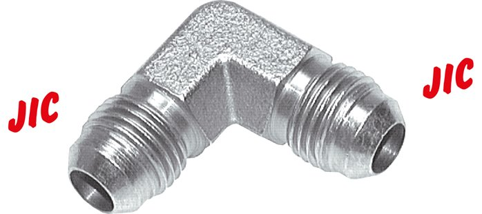 Angle with JIC-thread, up to 450 bar