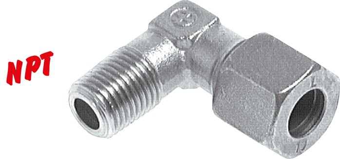 Angle screwed connections (NPT-thread)