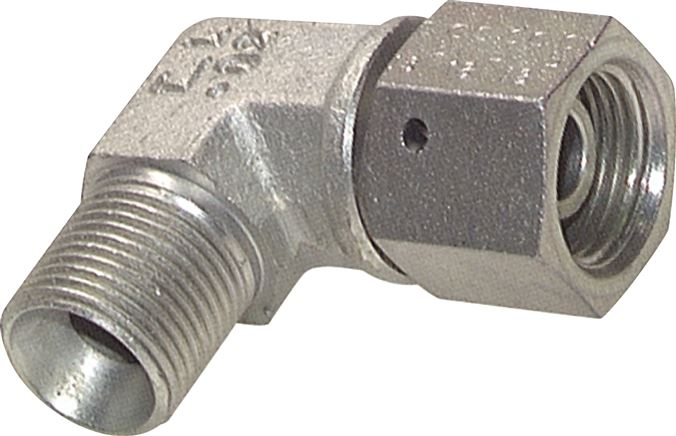 Screw-in elbow with inch-thread (60° conical hose nipple), up to 475 bar