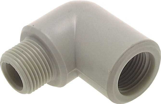 Screw-in elbow, plastic, with female and male threads, PN 10