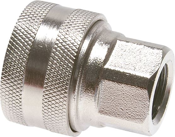 couplings for washing machine hoses,  without shut-off valve