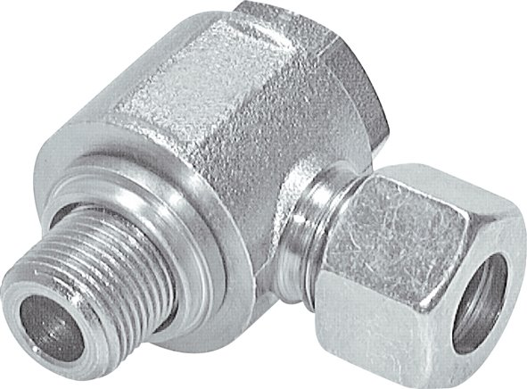 Non-choking swivel screw connections (metric)