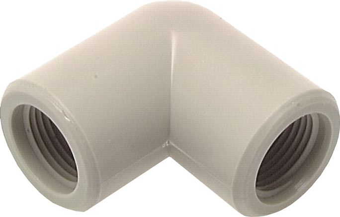 Elbow 90° with female threads, plastic, PN 10