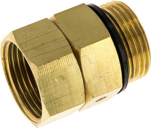 "Hot water rotary joint G 1""-G 1"", Brass (WS DREH 10 MS)"