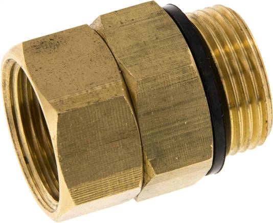 "Hot water rotary joint G 3/4""-G 3/4"", Brass (WS DREH 34 MS)"