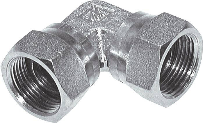 Elbow screw connections with inch-thread (60° conical hose nipple), up to 575 bar