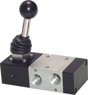 3/2-way hand lever valve, G 1/4