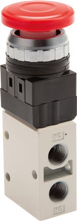 "3/2-way button activated valves & rotary switch G 1/4"" (Ø 30.5), Series YMV400"