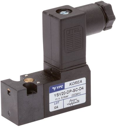 3/2-way solenoid valves with flange connection, Series YSV20