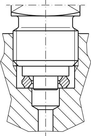 Drawing: Internal centring (standard)
