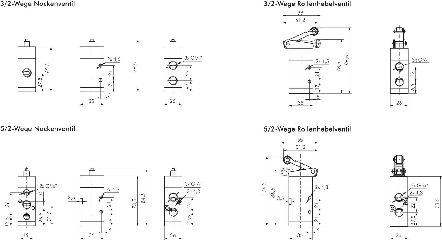 Emc 3 2 And 5 Way Limit Switches Model Series Vm Landefeld Switch Schematic Drawing