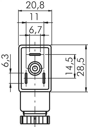Drawing: Plug size 1 (industry standard B)