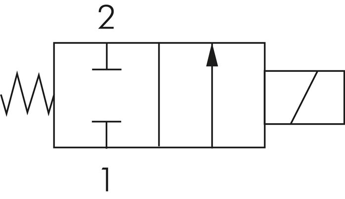 Schematic symbol: closed (NC) without power