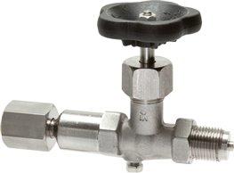 "Pressure gauge shut-off valve G 1/2"" Rotatable sleeve / spigot with shaft for mounting bracket,1.457"