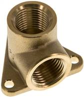 "Pipeline socket 2 x G 1/2"" (Female thread), Brass"
