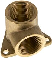 "Pipeline socket 2 x G 3/4"" (Female thread), Brass"