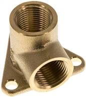 "Pipeline socket 2 x G 3/8"" (Female thread), Brass"